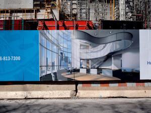 construction hoarding in East London