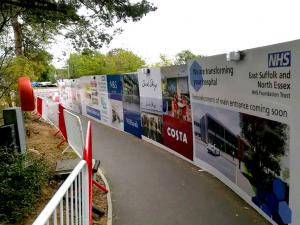 printed site hoarding High Wycombe