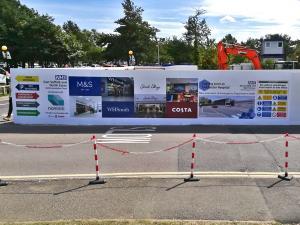 Site Hoarding print in Luton