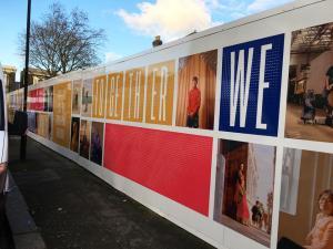 Wembley hoarding board printing