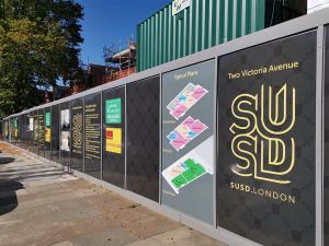 printed hoardings Wembley