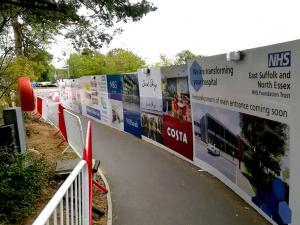 printed site hoarding Wembley